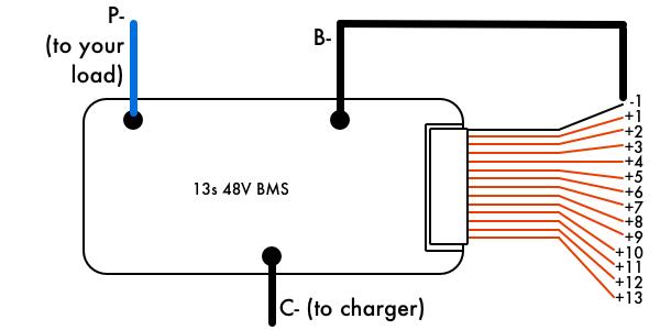 48v 13s battery management system bms